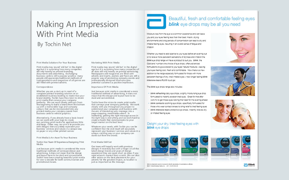 Marketing with print media editorial