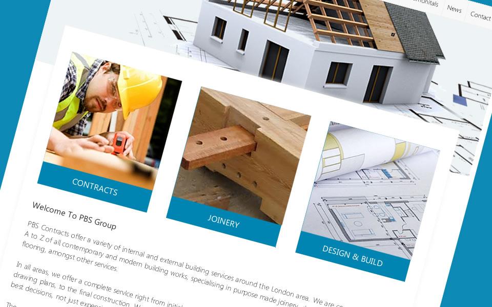 Bespoke web design for builders